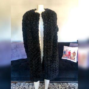 H&M Big Black Fuzzy Comfy Coat